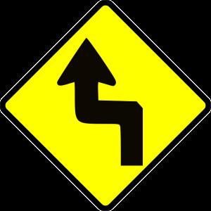 zigzag street sign